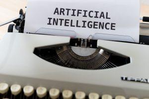 pisaća mašina na kojoj je iskuca artifical intelligence